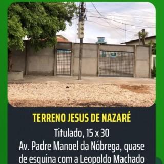 Terreno urbano com ótima localização, próximo a igreja Jesus de Nazaré
